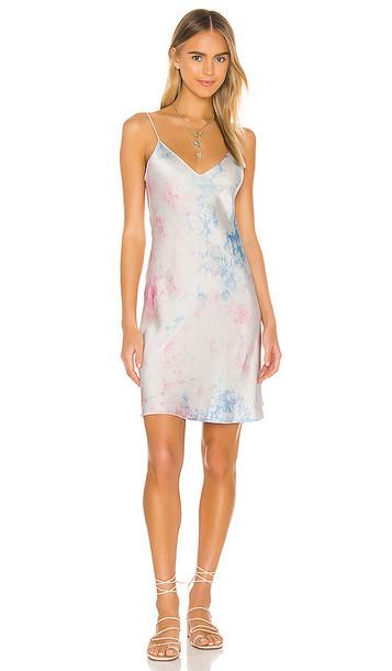 DANNIJO Mini Slip Dress in Blue