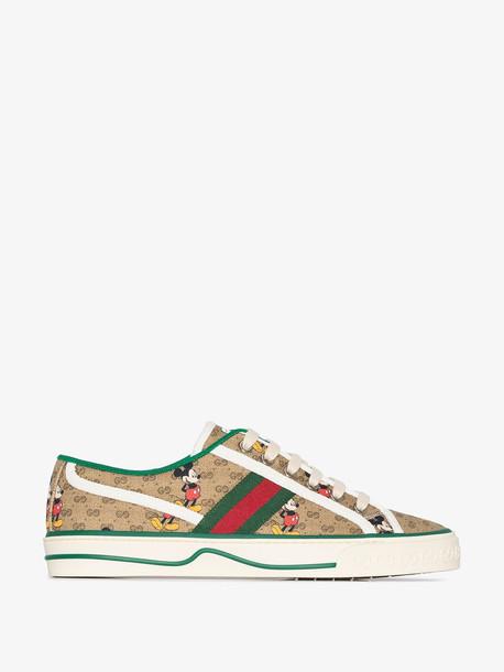Gucci x Disney Tennis 1977 sneakers in neutrals