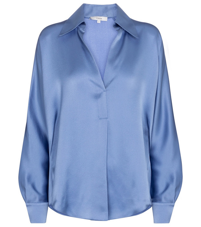 Vince Silk satin blouse in blue