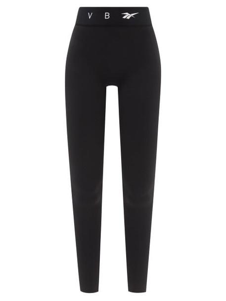 Reebok X Victoria Beckham - High-rise Logo-print Leggings - Womens - Black