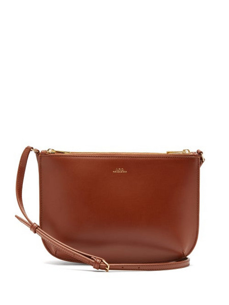 A.P.C. A.P.C. - Sarah Smooth-leather Cross-body Bag - Womens - Tan