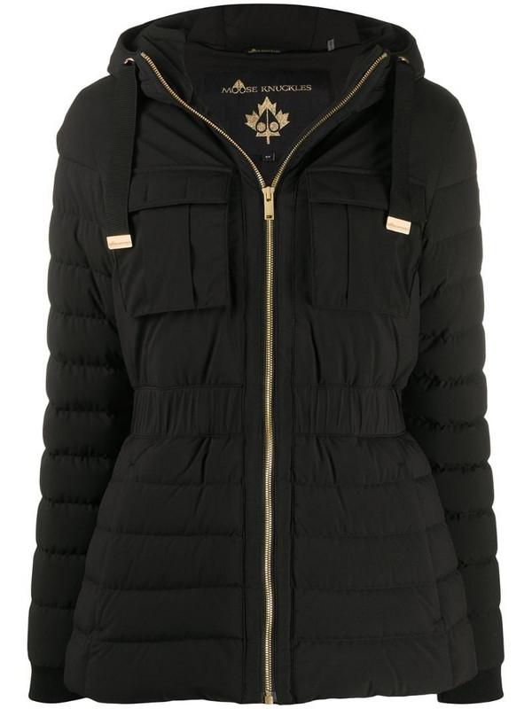 Moose Knuckles zipped padded jacket in black