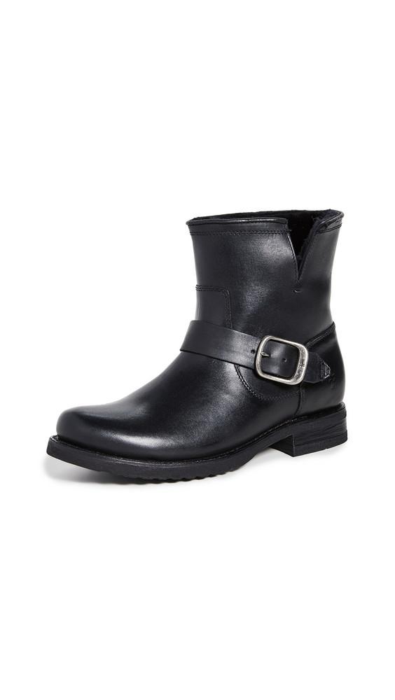 Frye Veronica Shearling Booties in black