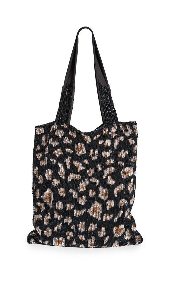 Retrofete Sequin Tote Bag in black / leopard