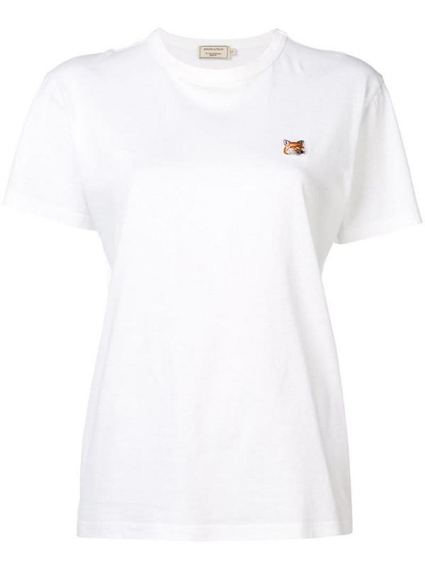 Maison Kitsuné Fox patch T-shirt in white