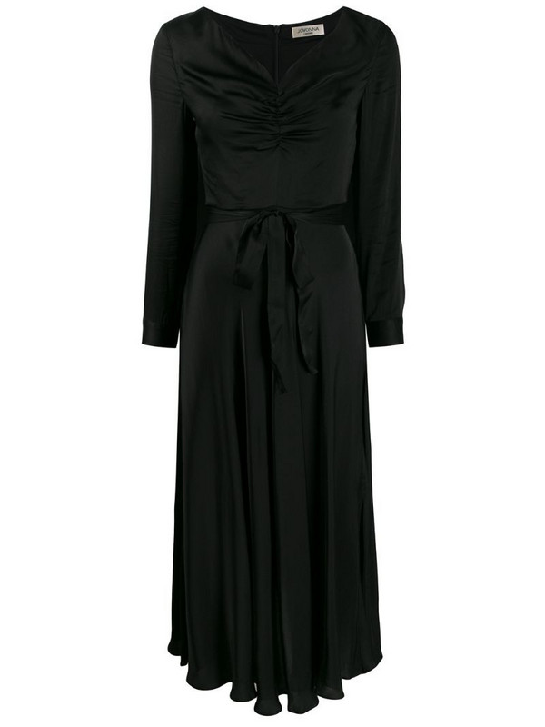 Jovonna Modernista ruched midi dress in black