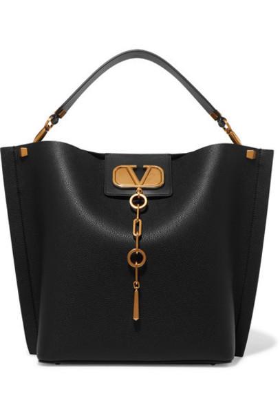 Valentino - Valentino Garavani Escape Textured-leather Tote - Black