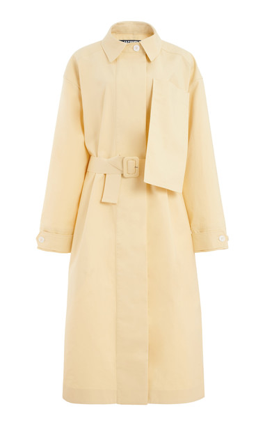 Jacquemus Le Manteau Camiseto Cotton Trench Coat in yellow