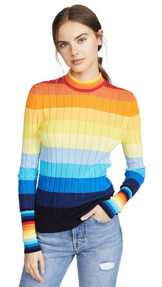 Chinti and Parker Sunset Pointelle Sweater in multi