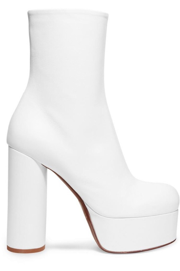 shoes vetements white leather white leather ankle boots ankle boots