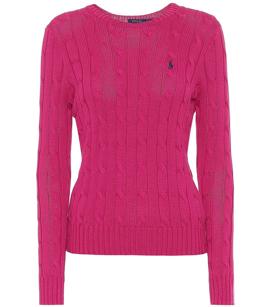 Polo Ralph Lauren Cotton sweater in pink