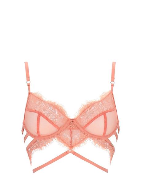 BLUEBELLA Alexandra Lace & Tulle Bra W/ Underwire in pink