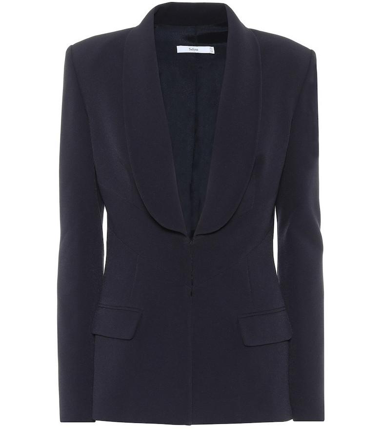 Safiyaa Stretch-crêpe blazer in blue