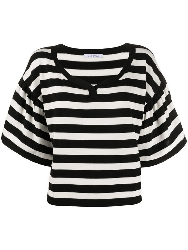 Vivetta oversized striped T-shirt in black
