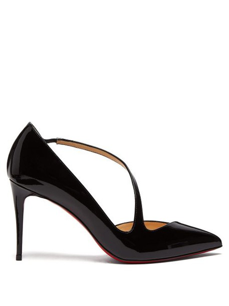 Christian Louboutin - Jumping 85 Patent Leather Pumps - Womens - Black