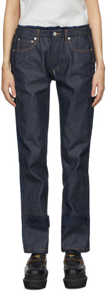 A.P.C. A.P.C. Indigo & Navy Sacai Edition Haru Jeans