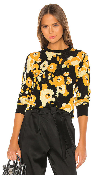 Kenzo Peonie Jacquard Pullover in Yellow