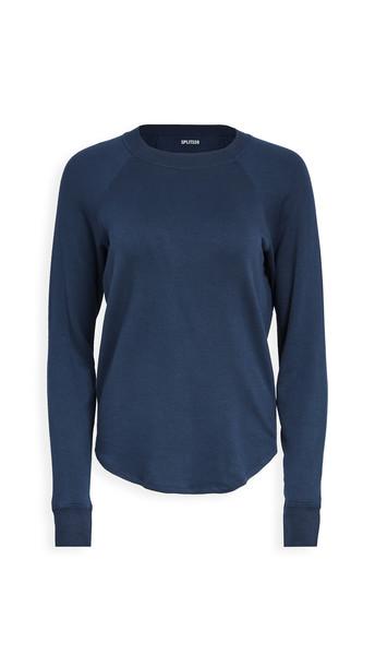 Splits59 Warm Up Pullover Sweatshirt in indigo