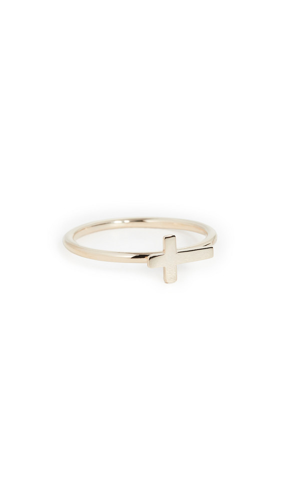 Jennifer Zeuner Jewelry Theresa Cross Ring in gold