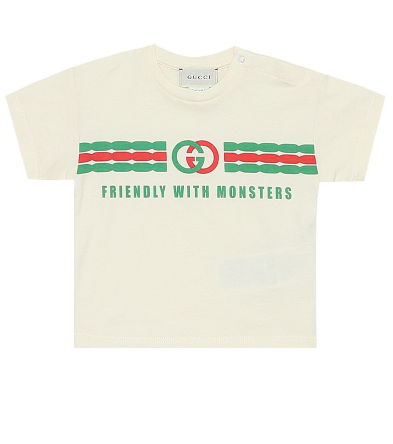 Gucci Kids Baby cotton T-shirt in white