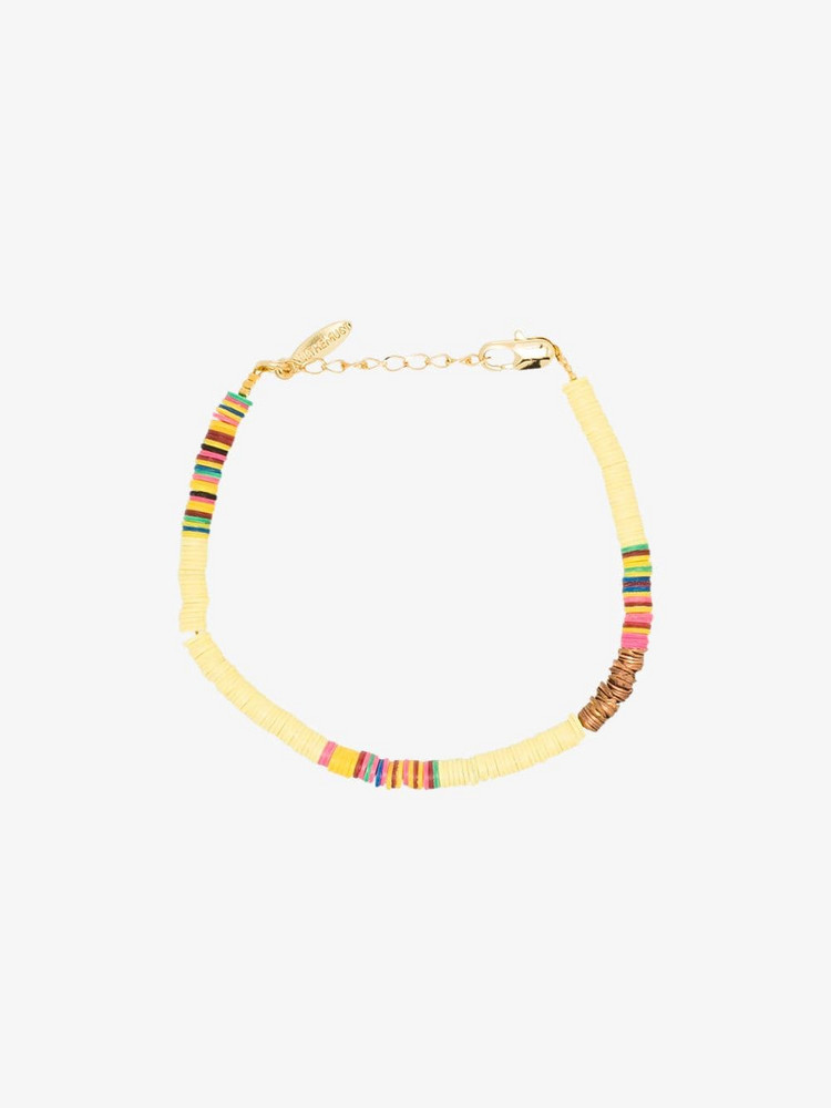 ALL THE MUST gold-plated beaded bracelet in yellow