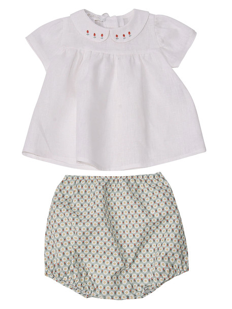 Mariella Ferrari Printed Shorts Set in green / white