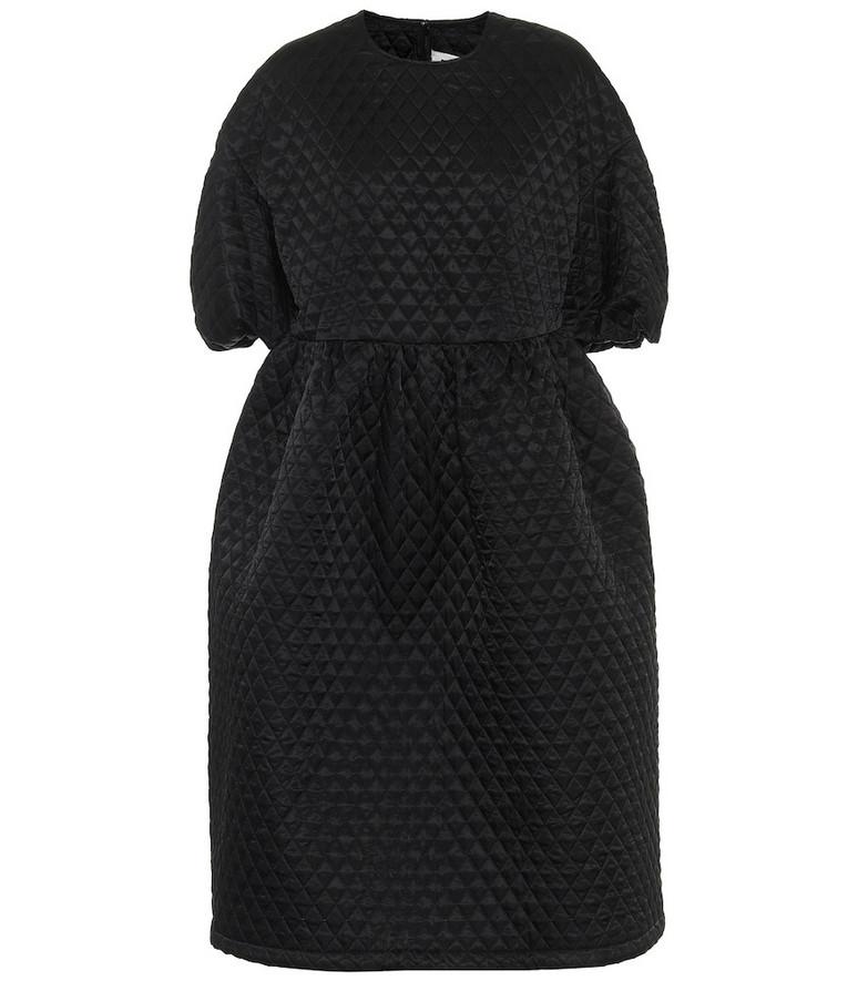 Noir Kei Ninomiya Quilted midi dress in black
