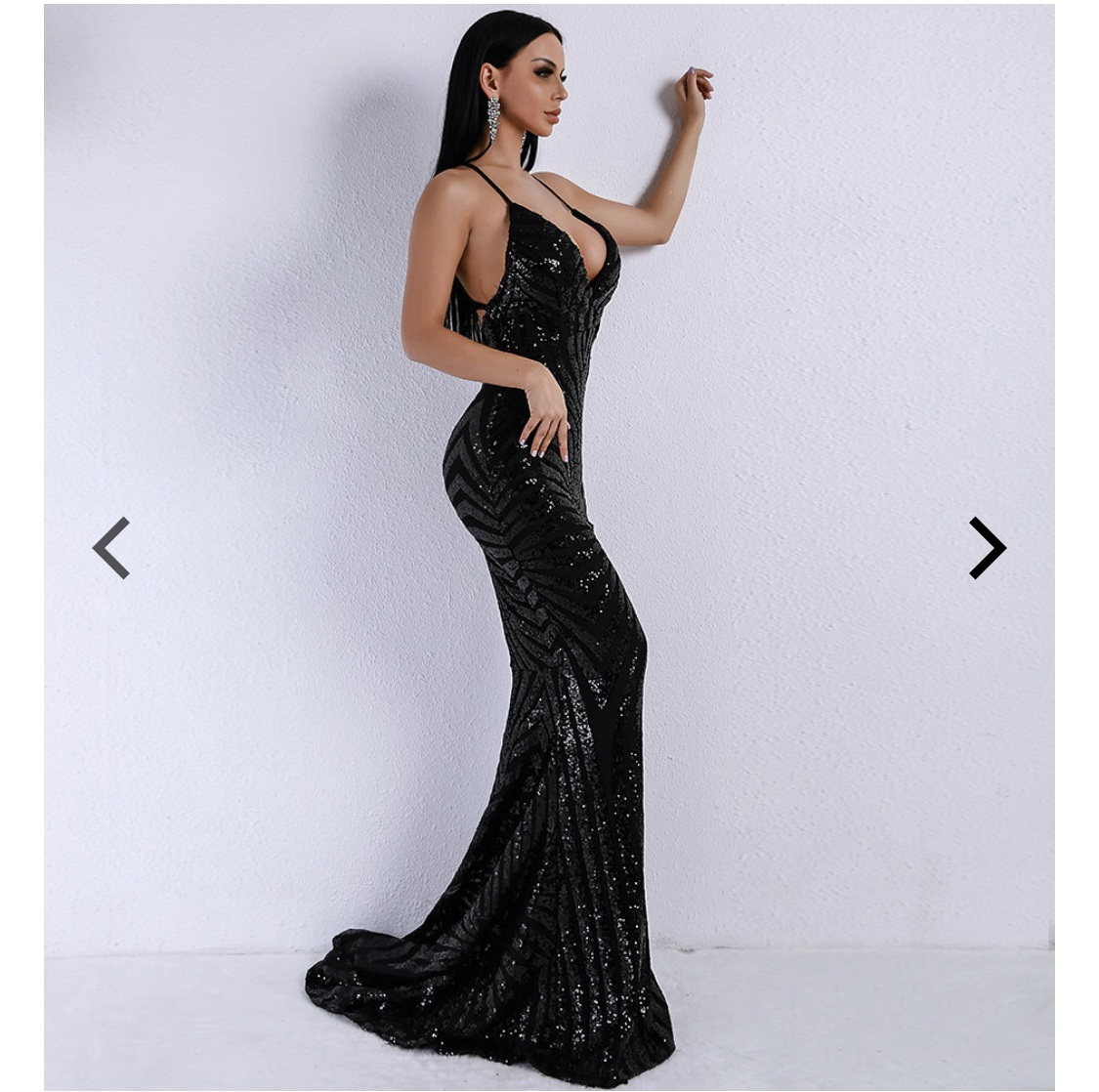 dress black sequins gown strapless black dress long black dress formalwear long evening dress prom dress