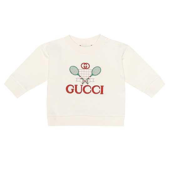 Gucci Kids Baby Gucci Tennis cotton sweatshirt in white