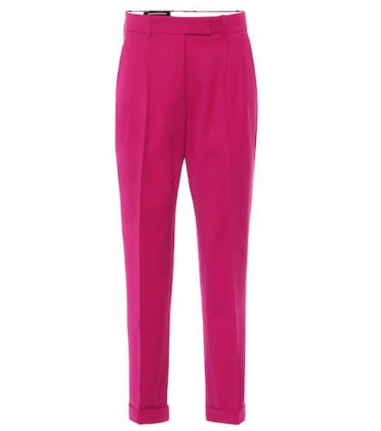 Calvin Klein 205W39NYC Wool-blend straight pants in pink