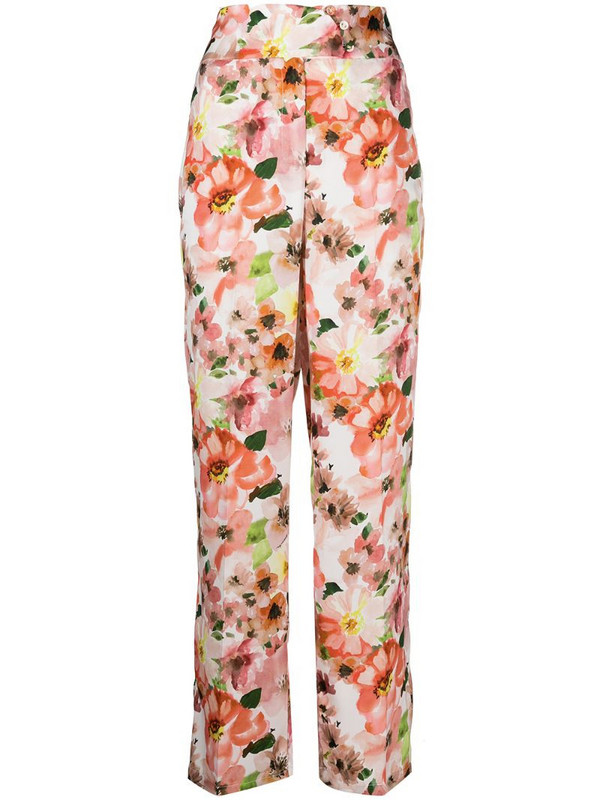 Patrizia Pepe floral print flared trousers in pink