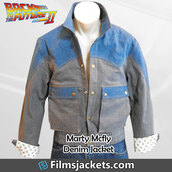 coat,movie,back to the future,michael j fox,denim jacket,fashion,style,mens  fashion,menswear,lifestyle,men's outfit