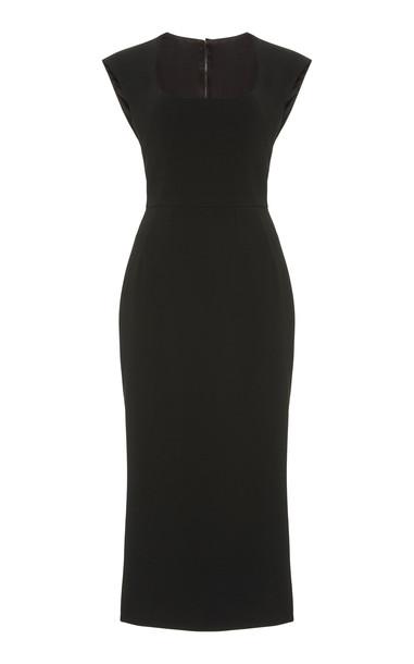 Dolce & Gabbana Cady Midi Dress Size: 36 in black