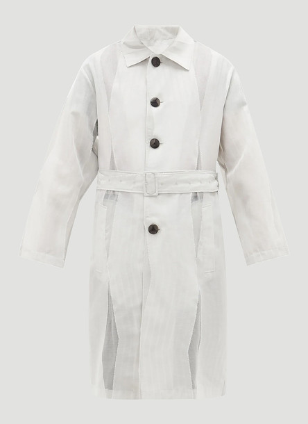 Namacheko Himutski Organza Trench Coat in White size FR - 38