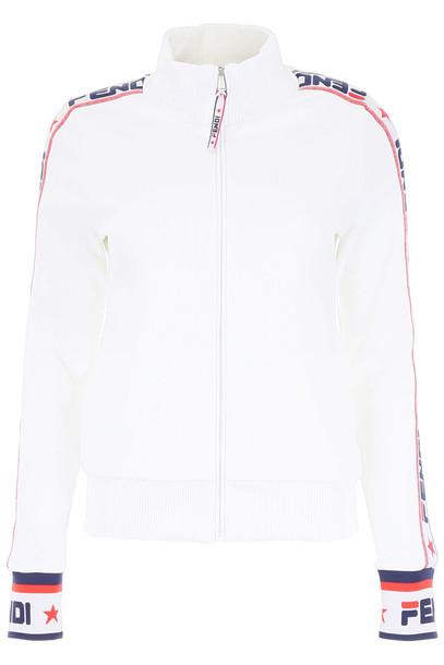 Fendi Fendi Mania Track Jacket in white