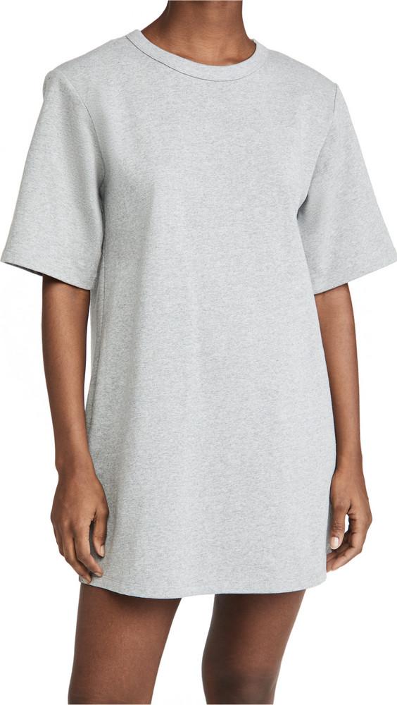 endless rose Shoulder Padded T-Shirt Dress in grey