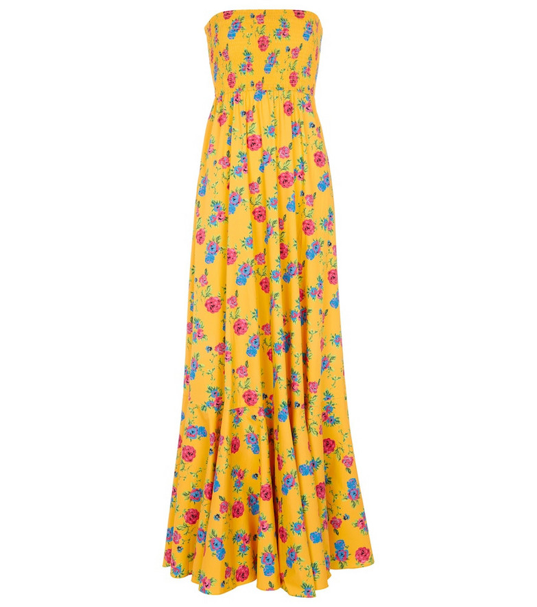 Caroline Constas Haisley floral maxi dress in orange