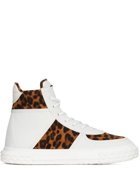 Giuseppe Zanotti Blabber hi-top sneakers in white