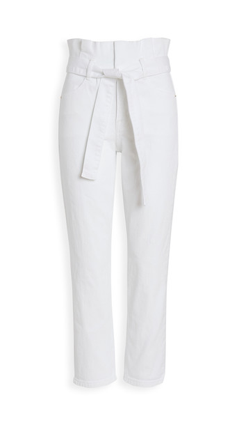 FRAME Belted Pleated Pegged Jeans