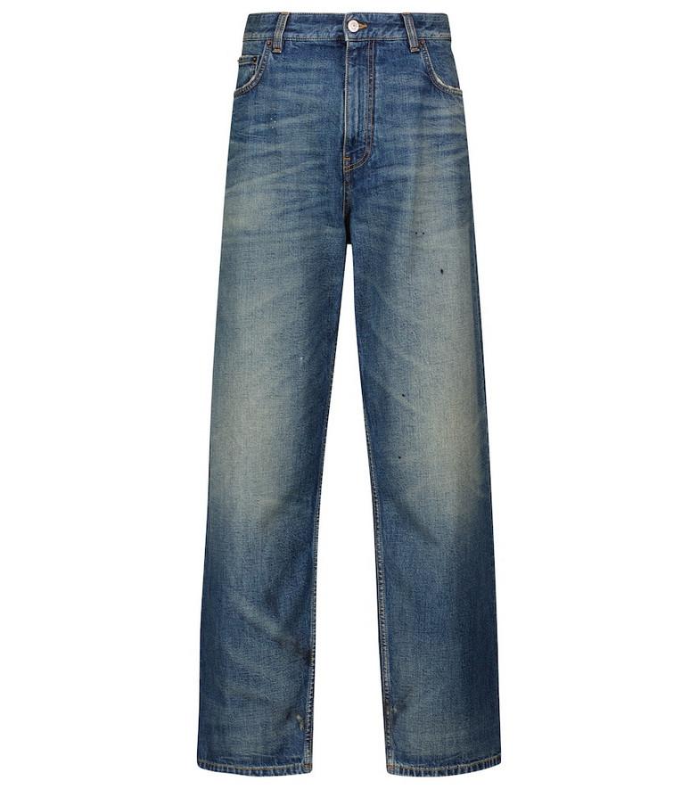 Balenciaga High-rise straight jeans in blue