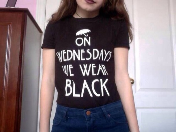 shirt black wednesday t-shirt american horror story