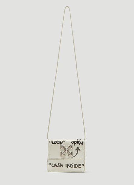 Off-White 0.7 Jitney Shoulder Bag in White size One Size