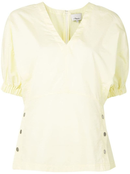 3.1 Phillip Lim side stud blouse in yellow
