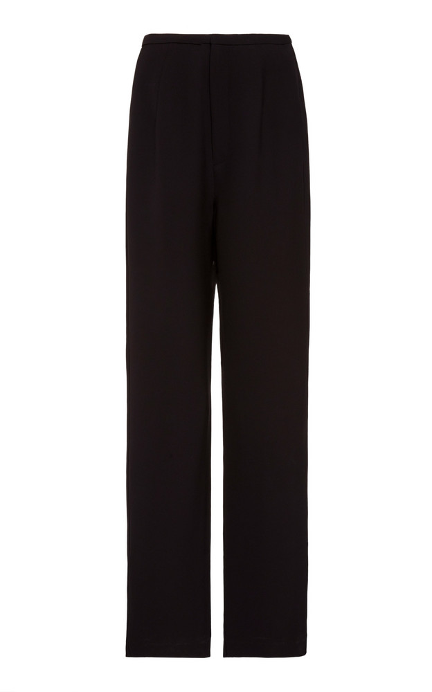Toteme Alaior Wool-Blend Straight-Leg Trousers in black
