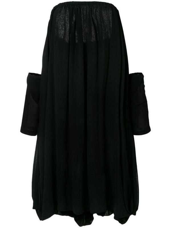 Yohji Yamamoto Pre-Owned off-shoulder flared dress in black