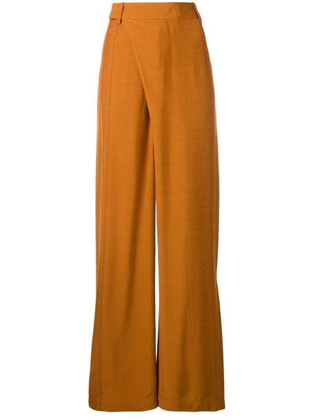 3.1 Phillip Lim front wrap wide leg trousers in orange