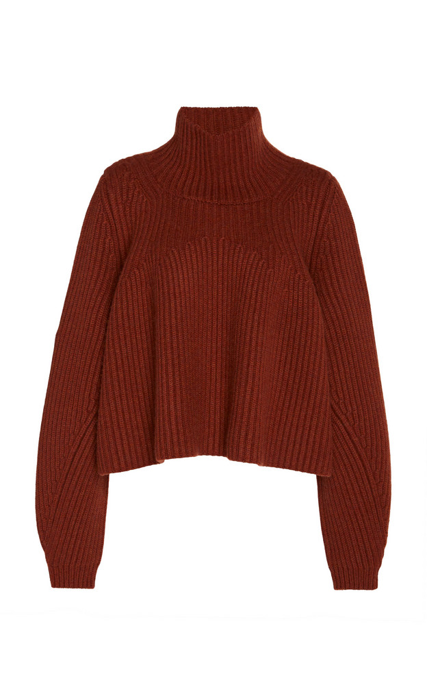 Khaite Denney Cashmere Turtleneck Sweater Size: XS in brown