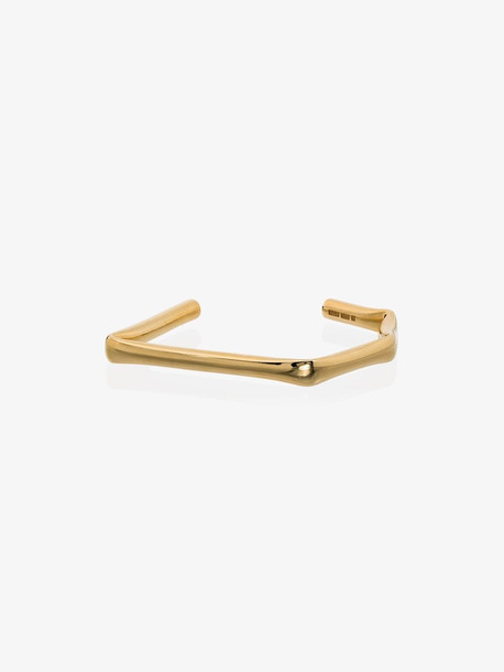 All Blues gold plated angled bracelet