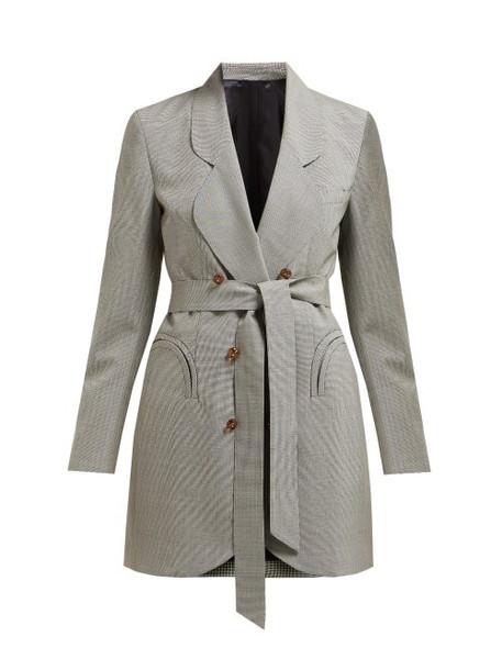 Blazé Milano - Tonino Double Breasted Houndstooth Wool Blazer - Womens - Grey