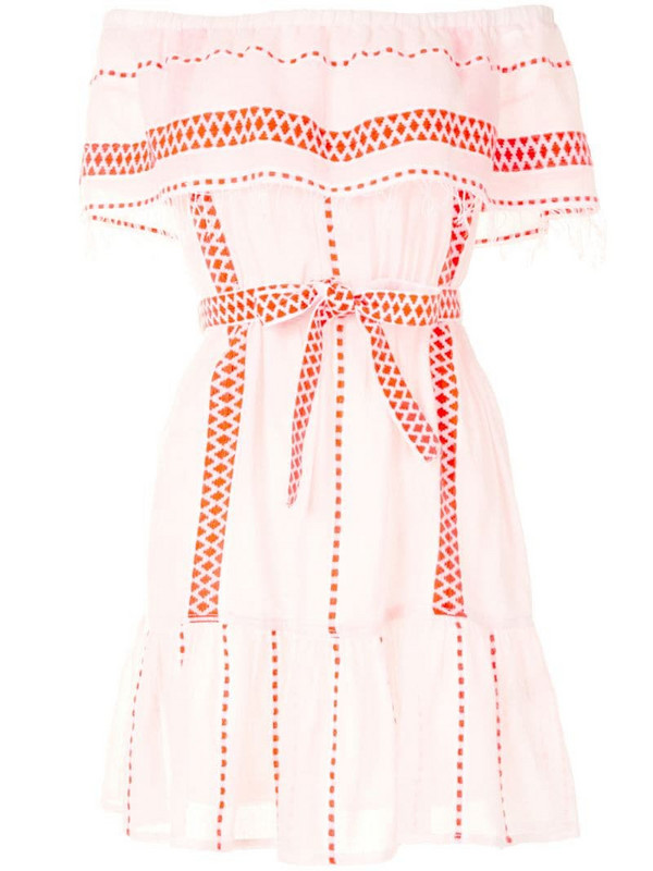 lemlem Jemari off-shoulder dress in white